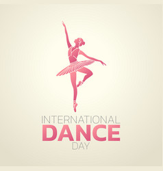 international dance day logo icon design vector image
