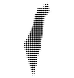 israel map halftone icon vector image