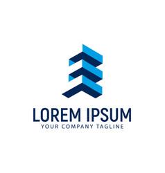 letter e building logo design concept template vector image