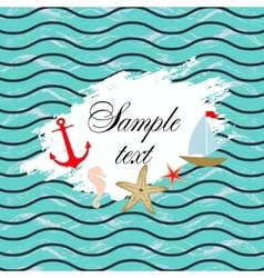 Marine background Template design vector image