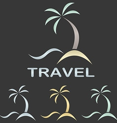 Metallic travel logo template vector image