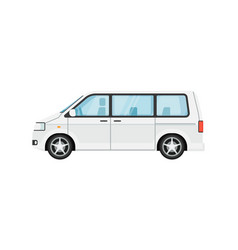 modern minivan isolated vector image