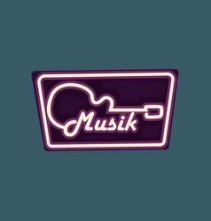 Music retro street signboard vintage neon banner vector