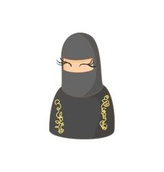 Muslim women wearing hijab icon cartoon style vector image