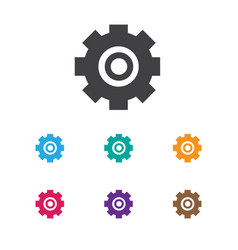 of repair symbol on cogwheel vector image