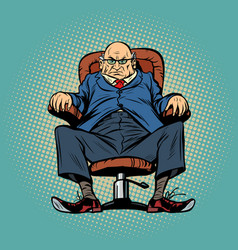 Old boss in the chair vector