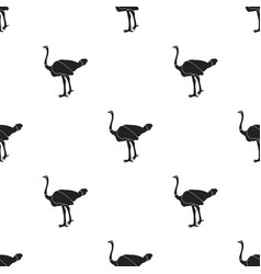 Ostrich icon in black style isolated on white vector