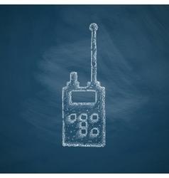 police radio icon vector image