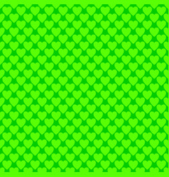 Repeating green heart background pattern vector