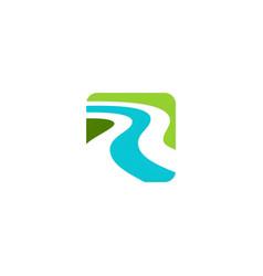 river abstract logo vector image
