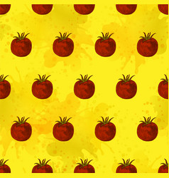 seamless pattern tomato background vector image