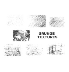 set of grunge texture for decoration vector image