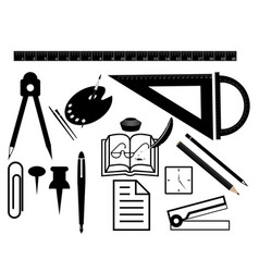 Set of stationery for office supplies vector