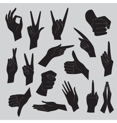set of universal gestures of vector image