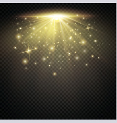 Set shining star the sun particles and sparks vector