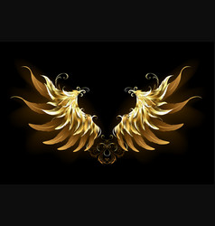 Shiny angel wings vector