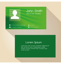 simple green abstract color business card design vector image