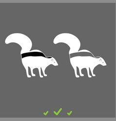 skunk it is white icon vector image
