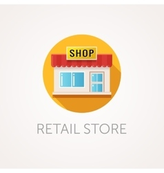 Small retail store icon front view vector