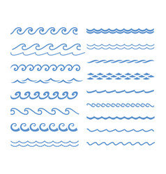 Sound water waves set vector