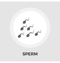 Sperm flat icon vector
