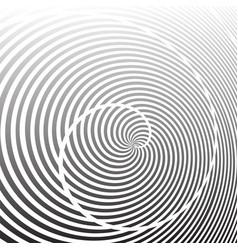 spiral rotation lines design vector image