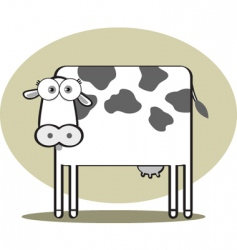 square animal cow vector image