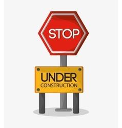 Stop of under construction design vector