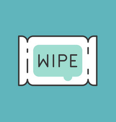 tissue paper wipe filled outline icon vector image