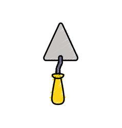 Triangular spatula equipment service industry vector