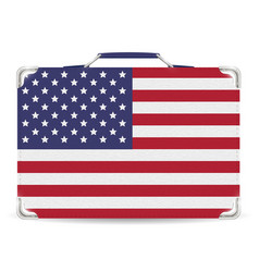 united state america flag suitcase travel bag vector image