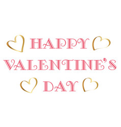 valentines day logo or symbol on white background vector image