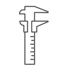 vernier caliper thin line icon tool instrument vector image