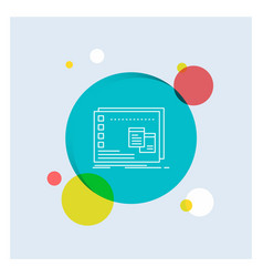 Window mac operational os program white line icon vector