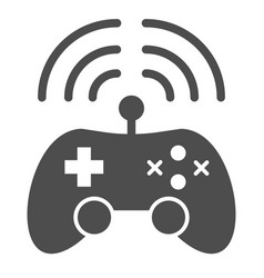 Wireless game controller solid icon joypad vector