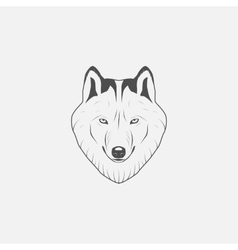 Wolf icon in grayscale vector image