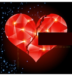 Abstract background with heart-digital art vector image vector image