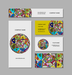 business cards design ethnic mandala vector image vector image