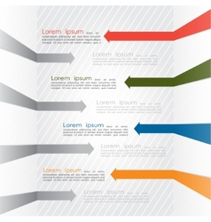 Different way colorful arrows infographics vector image vector image