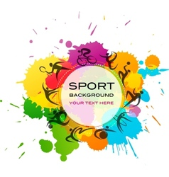 Sport background - colorful vector image vector image