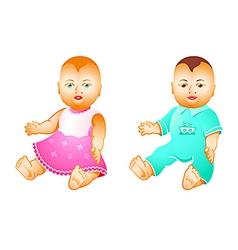 baby dolls vector image vector image