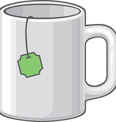Green Tea in a Mug Icon vector image vector image