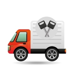 mini truck keys vehicle icon design vector image vector image