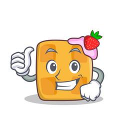 proud waffle character cartoon design vector image vector image