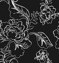 White Rose seamless pattern Retro floral texture vector image vector image