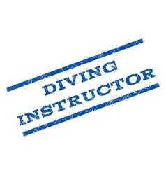 Diving instructor watermark stamp vector
