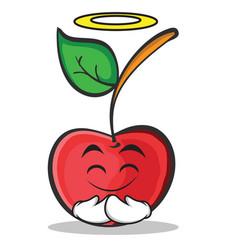 innocent cherry character cartoon style vector image vector image