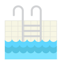 pool flat icon fitness and sport swim sign vector image