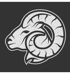 Sheep symbol logo for dark background vector image vector image