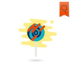 spiral lollipop modern flat icon vector image
